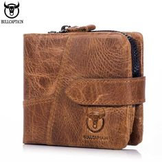 man model BULLCAPTAIN Brand New Men Wallet 100% Genuine Leather Retro Men's Short Wallets High Quality Hasp Small Coin Purse *** AliExpress Affiliate's buyable pin. Clicking on the VISIT button will lead you to find similar product on www.aliexpress.com #MensWalletsGenuineLeather