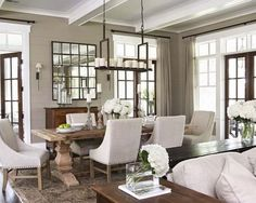 Contemporary French Style on Country Dining Room Decor Gallery