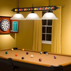 i like these pool table lights i think theyre perfect for the dcor