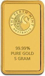 5gr Gold Bullion Perth Mint with Certificate | Gold Bullion | 5g