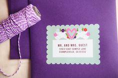 Papel Picado Fun Wedding Invitation label