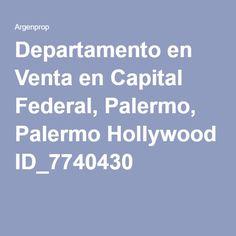 Departamento en Venta en Capital Federal, Palermo, Palermo Hollywood ID_7740430