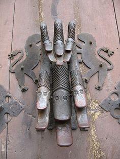 door knocker in Albarracin