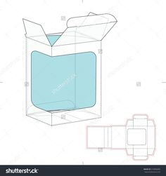 Retail Box With Product Display Window Cut And Die Line Template Stock Vector Illustration 319806800 : Shutterstock