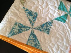 Modern pinwheel quilt by Lovedquilts on Etsy, $65.00