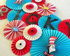 Snow White Inspired Paper Rosettes Princess Party by LanvisB