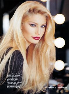 Best glam hair is blonde and big