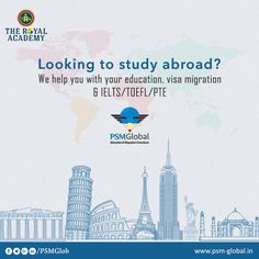Looking to Study abroad We help you with Your #Education,#VisaMigration,#IELTS,#TOEFL,#PTE #VisaMigration #PSMGlobal #IELTS  #TOEFL