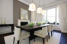 Love the dining room. Modern Interior Design, Modern Decor, Dining Furniture, Great Rooms, My Dream Home, Home And Living, Dining Table, Dining Rooms, Sweet Home