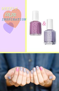 On all fingers, except index fingers – Essie Bangle Jangle. On index fingers – Essie Splash of Grenadine.