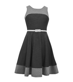 Bonnie Jean® Girls' 7-16 Belted Fit And Flare Dress | Bon-Ton