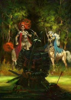 The Samurai and the centauress' by orangus on DeviantArt