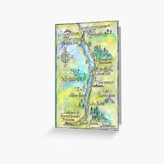 Swallows And Amazons, Windermere, Spring Colors, Kraft Envelopes, Card Sizes, Greeting Cards, Party Ideas, Colours, Map