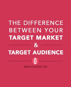 The Difference Between Your Target Market and Your Target Audience << Olivia Derby Business Branding, Business Marketing, Content Marketing, Affiliate Marketing, Business Tips, Online Business, Digital Marketing, Business Launch, Email Marketing