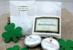 DIY Blarney Stone Kissing Charm. Make your own for good luck this St. Patrick's Day! From Evermine Blog: www.Evermine.com