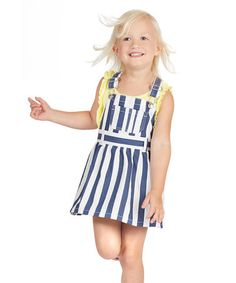 This Blue & White Stripe Jumper - Toddler & Girls by FabKids is perfect! #zulilyfinds