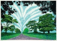 David Hockney, Winter Road near Kilham on ArtStack #david-hockney #art