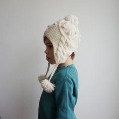 6058d7003d2 Knit hat kid earflat