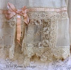 1920's Vintage Wedding Dress with gorgeous crocheted Irish lace