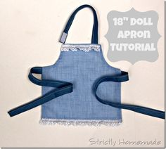 """Make your daughter an apron for her 18"""" doll. Free tutorial"""