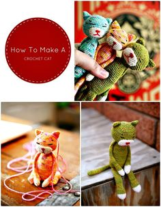 How To Make A Crochet Cat – Free Pattern - 20 Free Crochet Cat Patterns - Crochet Cat Toys - DIY & Crafts