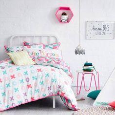 Adairs Kids XOXO Quilt Cover Set Pink, kids quilt covers, doona covers from Adairs Kids