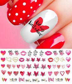 Valentine's Day Nail Decals Assortment