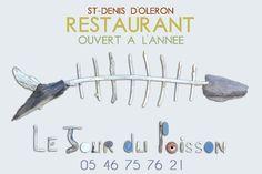 """Un autre restaurant à découvrir  """"Le Jour du Poisson"""" à Saint-Denis d'Oléron sur l'Île d'Oléron. #Restaurant #Lejourdupoisson #Saintdenisdoleron"""