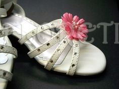 Mini Pink Daisy Shoe Clips for Girls | Floreti - Retro/Kitsch on ArtFire. weddings, jewelry, pink daisy, shoe clips, children, shoes, accessories, girl, wedding accessory, flower girl gifts, silk flower, fabric flower, freshwater pearls, swarovski crystals. $41.90