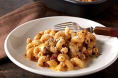 Cheesy & Beefy Tomato Corkscrew Pasta Bake