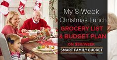My 8-Week Christmas Lunch Grocery List