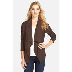 Free shipping and returns on Leith Waterfall Open Front Cardigan ...