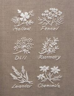 Wonderful Ribbon Embroidery Flowers by Hand Ideas. Enchanting Ribbon Embroidery Flowers by Hand Ideas. Herb Embroidery, Japanese Embroidery, Hand Embroidery Stitches, Ribbon Embroidery, Cross Stitch Embroidery, Machine Embroidery, Embroidery Sampler, Embroidery Letters, Embroidery Ideas
