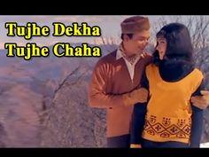 "Listen to the classic romantic hindi song ""Tujhe Dekha Tujhe Chaha"" from the bollywood classic romantic drama old hindi movie Chhoti Si Mulaqat starri. Film Song, Mp3 Song, Lyric Poem, Free Mp3 Music Download, Bollywood Songs, Romantic Songs, Music Albums, Hindi Movies, Health Advice"