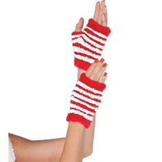 Candy Stripe Glovettes - Costume Accessories - Christmas - Holiday Parties - Categories - Party City