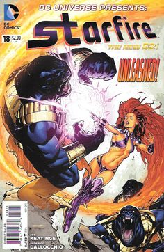 Without Honor Or Humanity ___Written By Joe Keatinge , Art By Federico Dallocchio , Cover Art Ryan Sook , The Story _ spotlight on Starfire!