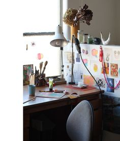 Natalia's workspace in The Nicholas Building, Melbourne. Photo – Lucy Feagins