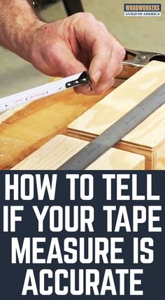 A tape measure, more specifically an accurate tape measure, is an essential tool for all woodworkers. George Vondriska teaches you a helpful tip to ensure your tape measure is accurate for both inside and outside measuring. Woodworking For Kids, Woodworking Guide, Woodworking Joints, Woodworking Workbench, Easy Woodworking Projects, Popular Woodworking, Woodworking Techniques, Woodworking Furniture, Wood Projects