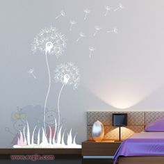 Flying Dandelion Wall Decal for Living Room or Hallway – evgieNev