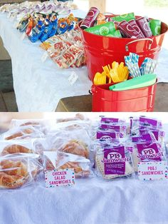 Love this for a end of year party for the kids classes - build your own picnic lunch.