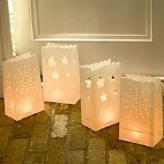 Candle bags that add soft romanticism