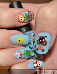 Super Mario manicure for the win!