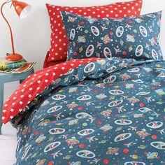 Cath Kidston Space Duvet Cover - Single modern-childrens-bedding