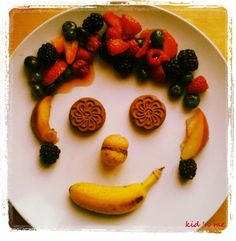 Mr. Fruit for a funny breakfast