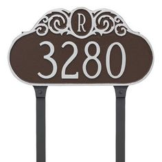 Montague Metal Products Monogram Address Plaque Finish: White/Gold
