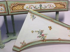 Ordered by George.Harpsichord. polychromed .Miniature 1:12
