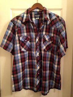 Mens Wrangler 1950's Wool Plaid Shirt HciEAc1u