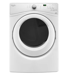 Whirlpool WED75HEF 27 Inch Wide 7.4 Cu. Ft. Energy Star Rated Electric Dryer wit White Dryers Dryer Electric