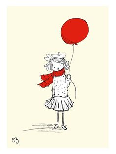 Take a look at this LoxlyHollow The Red Balloon Print by French-Inspired Home Collection on today! Roller Derby, Little Girl Illustrations, Printed Balloons, Red Balloon, Cute Crafts, Nursery Art, Illustration Art, Art Prints, Drawings