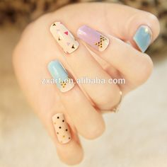 "Képtalálat a következőre: ""korean nail art"" Korean Nail Art, Korean Nails, Nail Polish Stickers, Best Nail Polish, Diy Nails, Cute Nails, Manicure, New Nail Art, Easy Nail Art"